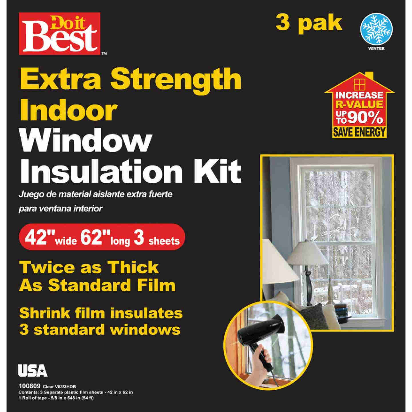 Do it Best 42 In. W. x 62 In. L. Indoor Shrink Window Film (3-Sheets) Image 2