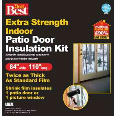 Do it Best 84 In. W. x 110 In. L. Indoor Patio Door/Window Shrink Film