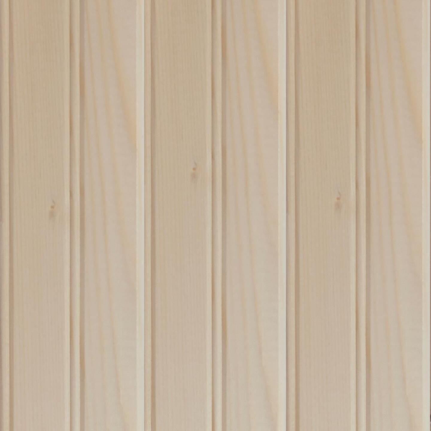 Global Product Sourcing 3-1/2 In. W. x 8 Ft. L. x 1/4 In. Thick Knotty Pine Reversible Profile Wall Plank (6-Pack) Image 1