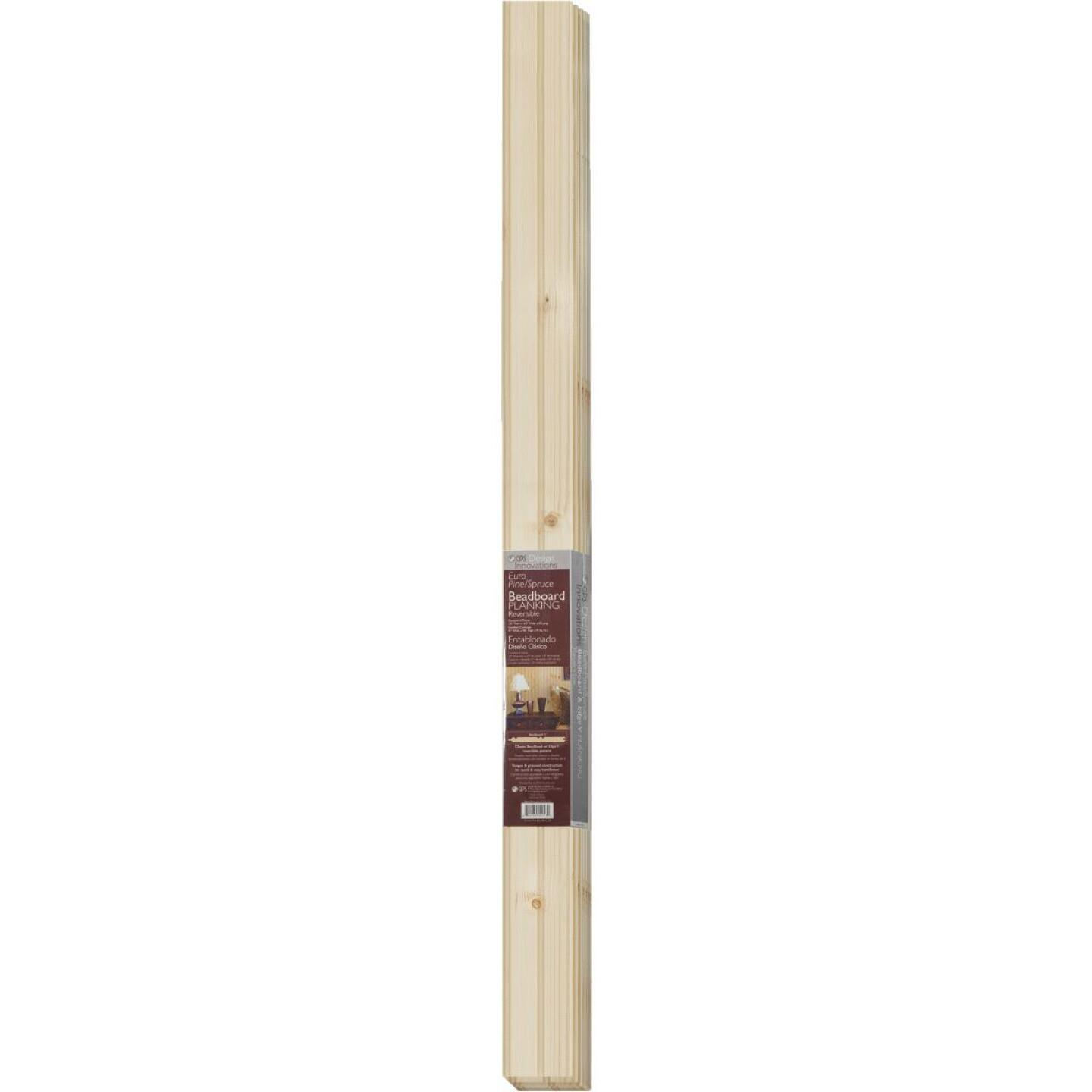 Global Product Sourcing 3-1/2 In. W. x 8 Ft. L. x 1/4 In. Thick Knotty Pine Reversible Profile Wall Plank (6-Pack) Image 2