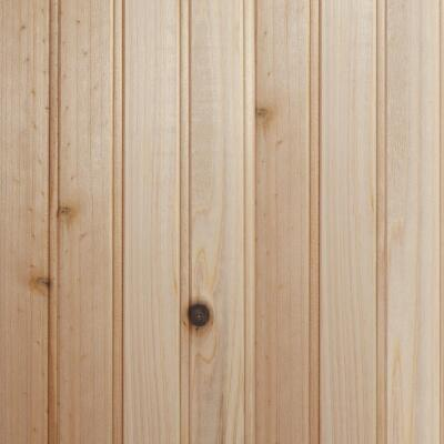 Global Product Sourcing 3-1/2 In. W. x 8 Ft. L. x 1/4 In. Thick Knotty Cedar Reversible Profile Wall Plank (6-Pack)