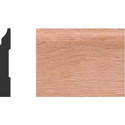 House of Fara 1/2 In. W. x 3-1/4 In. H. x 8 Ft. L. Solid Red Oak Colonial Base Molding
