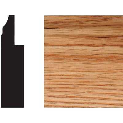 House of Fara 3 In. W. x 3/4 In. H. x 8 Ft. L. Solid Red Oak Wainscot Base Molding