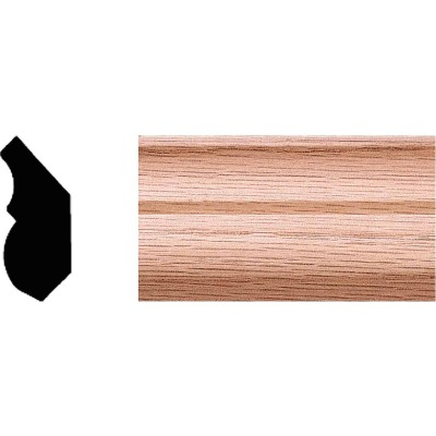 House of Fara 3/4 In. W. x 1-3/4 In. H. x 8 Ft. L. Solid Red Oak Crown Molding