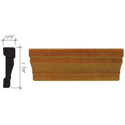 Inteplast Building Products 11/16 In. W. x 2-3/8 In. H. x 7 Ft. L. Independence Cherry Polystyrene Colonial Casing