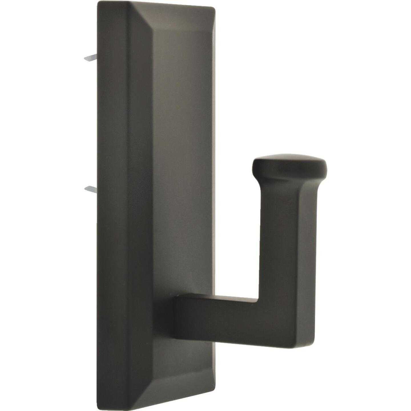 Hillman High and Mighty 25 Lb. Capacity Oil Rubbed Bronze Rectangular Decorative Hook Image 1