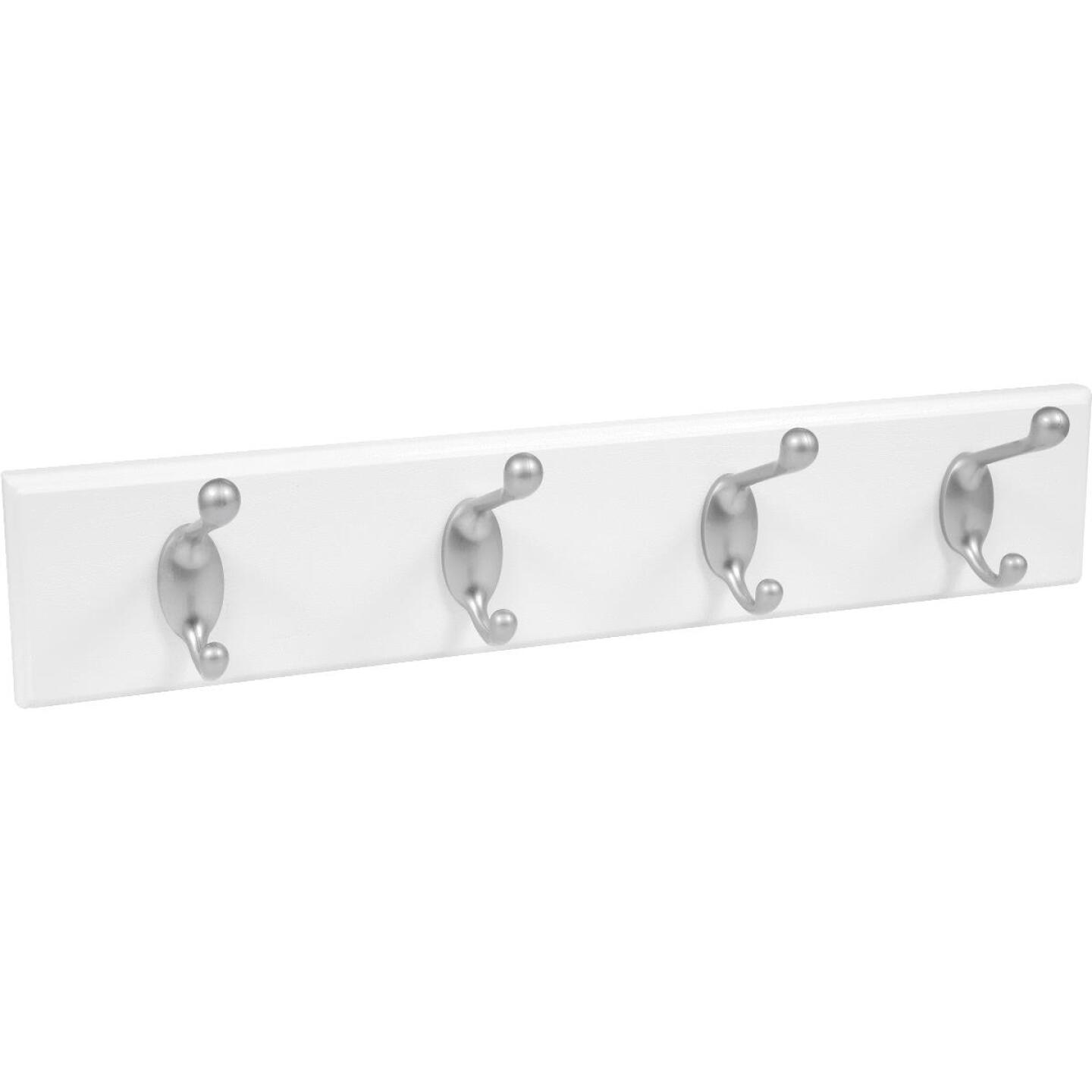 High and Mighty 18 In. 30 Lb Capacity White Hook Rail Image 1