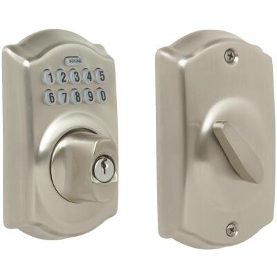 Schlage Keypad Satin Nickel Electronic Deadbolt
