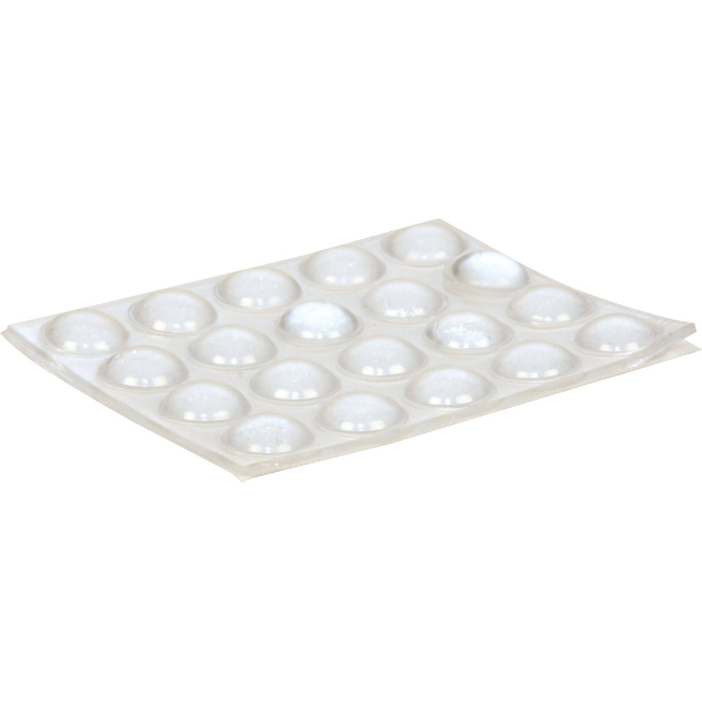 Magic Sliders 3/8 In. Round Clear Furniture Bumpers,(20-Count) Image 1