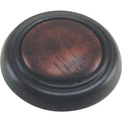 Laurey Oil Rubbed Bronze & Cherry Accent 1-1/4 In. Cabinet Knob