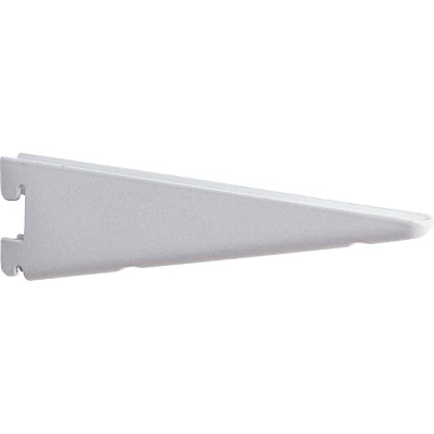 Knape & Vogt 182 Series 12-1/2 In. White Steel Heavy-Duty Double-Slot Shelf Bracket