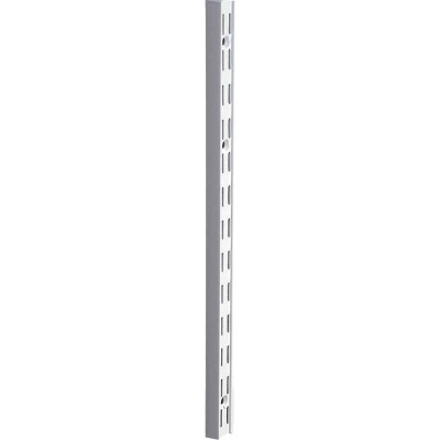 Knape & Vogt 82 Series 78 In. White Steel Heavy-Duty Double-Slot Shelf Standard