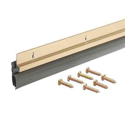 M-D 1-1/4 In. x 36 In. Brite Gold Aluminum & Vinyl Door Sweep