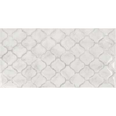 Smart Tiles Approx. 11 In. x 22 In. Glass-Like Vinyl Backsplash Peel & Stick, Arabesco Marble XL (2-Pack)