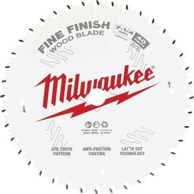 Milwaukee 7-1/4 In. 40-Tooth Fine Finish Circular Saw Blade