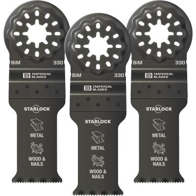 Imperial Blades Starlock 1-1/8 In. 18 TPI Metal/Wood Oscillating Blade (3-Pack)