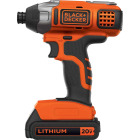 Black & Decker 20 Volt MAX Lithium-Ion 1/4 In. Hex Cordless Impact Driver Kit Image 1