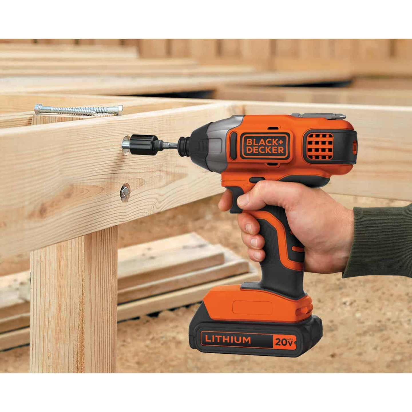 Black & Decker 20 Volt MAX Lithium-Ion 1/4 In. Hex Cordless Impact Driver Kit Image 2