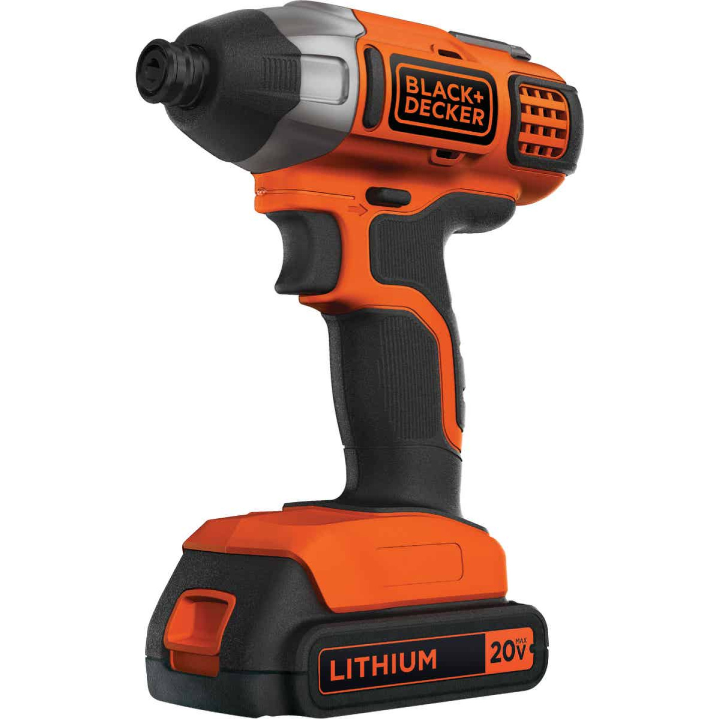 Black & Decker 20 Volt MAX Lithium-Ion 1/4 In. Hex Cordless Impact Driver Kit Image 5
