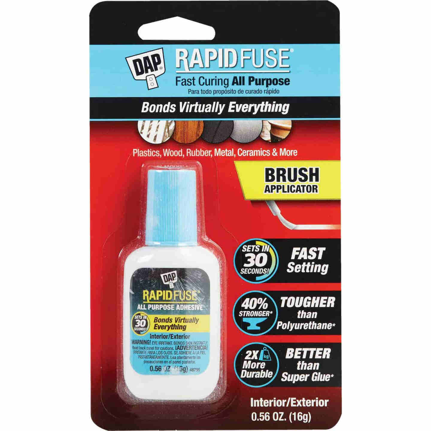 DAP RapidFuse 0.56 Oz. Clear Multi-Purpose Adhesive Brush Applicator Image 1