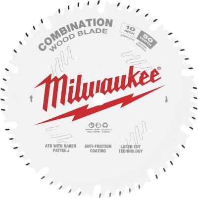 Milwaukee 10 In. 50-Tooth General Purpose Combination Wood Circular Saw Blade