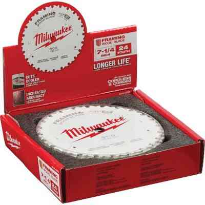 Milwaukee 7-1/4 In. 24-Tooth Framing Circular Saw Blade, Bulk