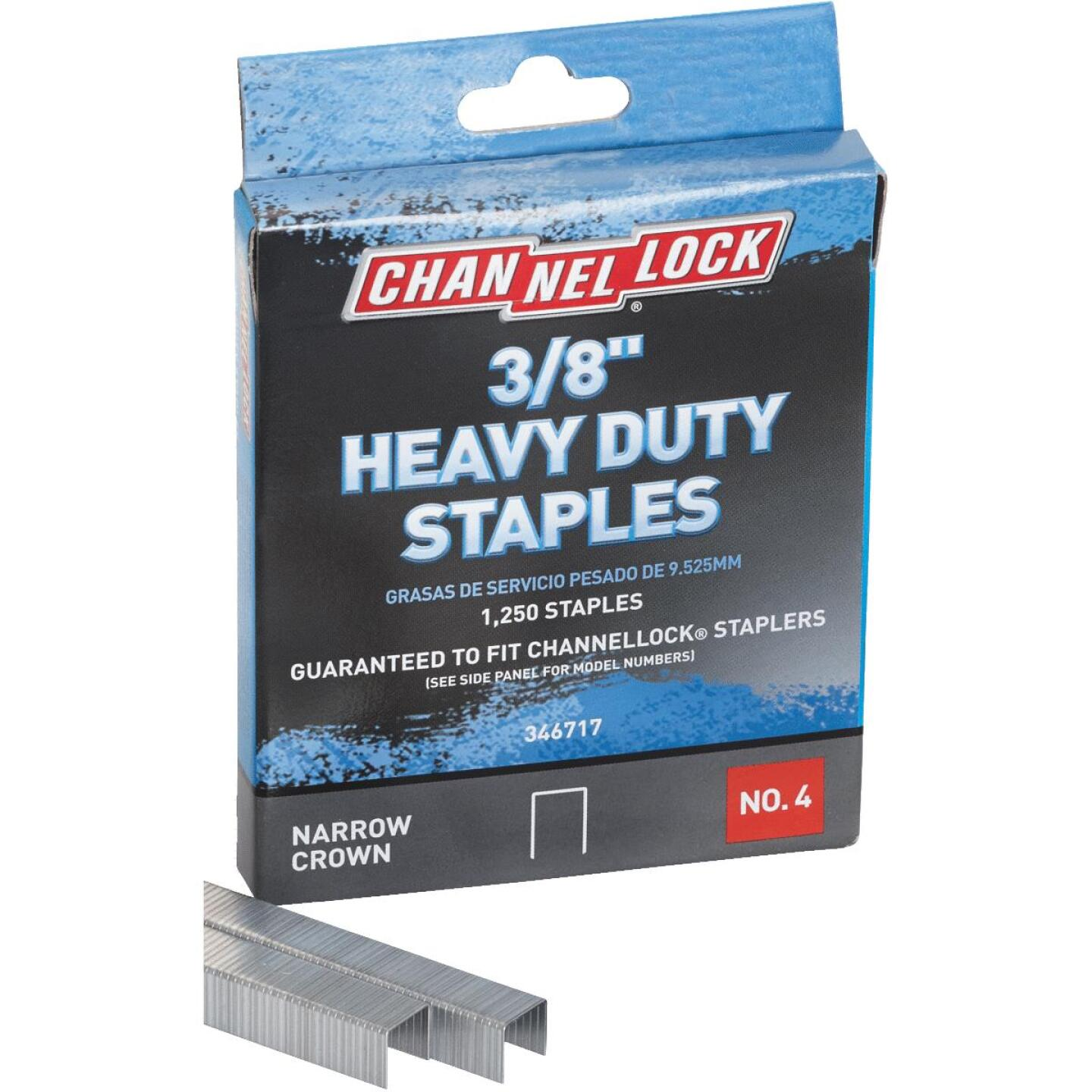 Channellock No. 4 Heavy-Duty Narrow Crown Staple, 3/8 In. (1250-Pack) Image 4