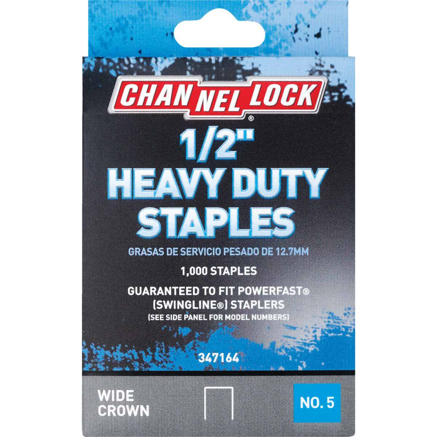Channellock No. 5 Heavy-Duty Wide Crown Staple, 1/2 In. (1000-Pack) Image 1