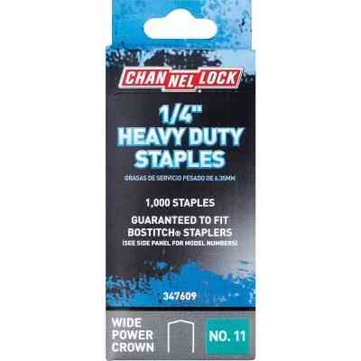 Channellock No. 11 Heavy-Duty Wide Power Crown Staple, 1/4 In. (1000-Pack)