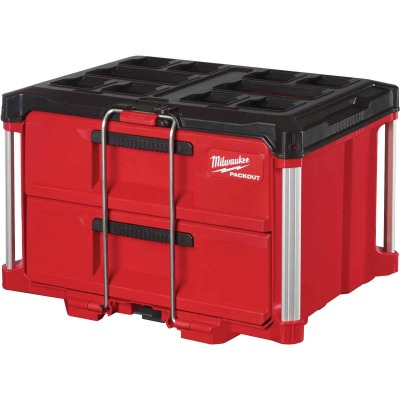 Milwaukee PACKOUT 2-Drawer Toolbox, 50 Lb. Capacity