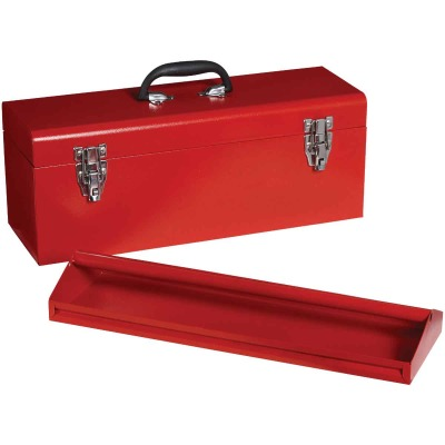 20 In. Red Steel Toolbox