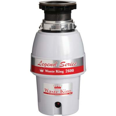 Waste King 1/2 HP Garbage Disposer, 5 Year Warranty