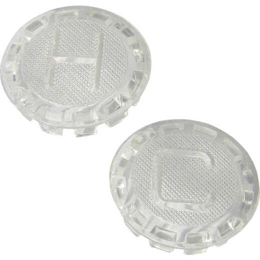 Lasco Price Pfister Clear to White Handle Button