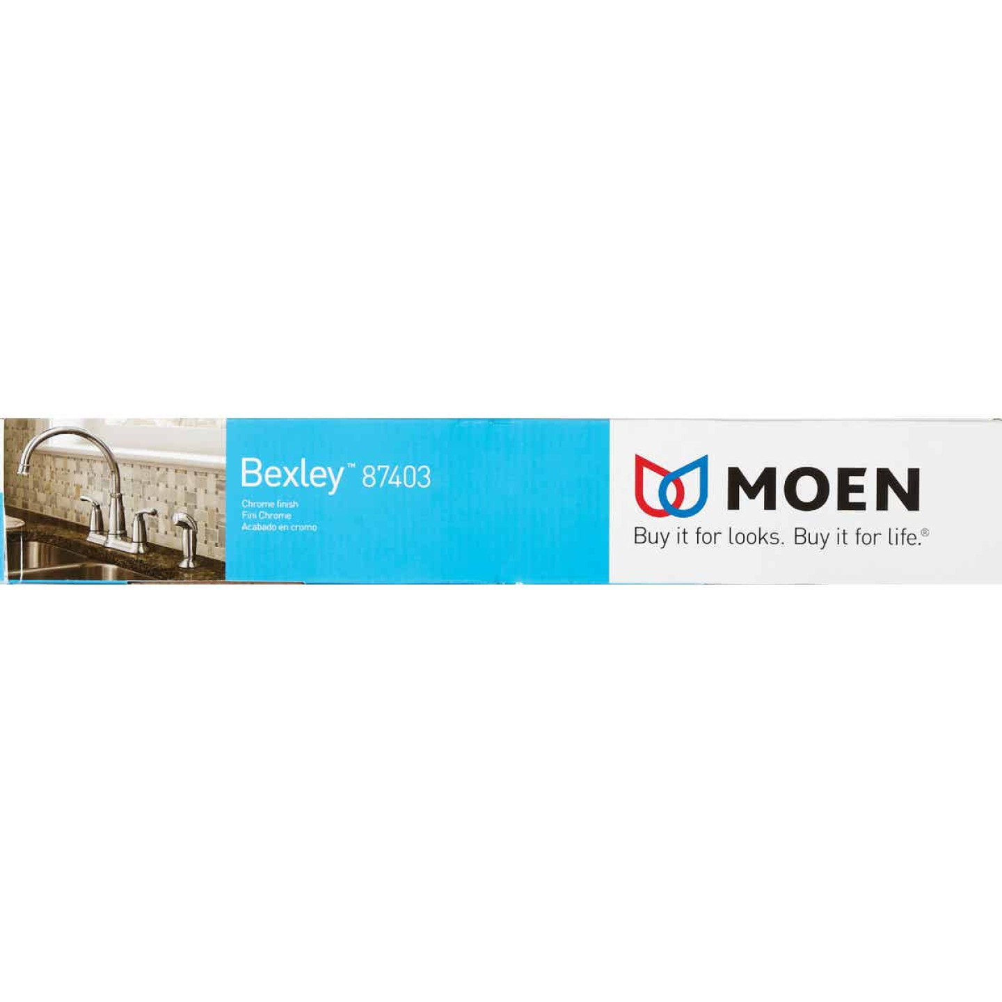Moen Bexley Dual Handle Lever Kitchen Faucet with Side Spray, Chrome Image 3