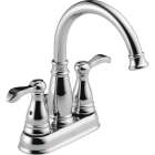 Delta Porter Chrome 2-Handle Lever 4 In. Centerset Bathroom Faucet with Pop-Up Image 1