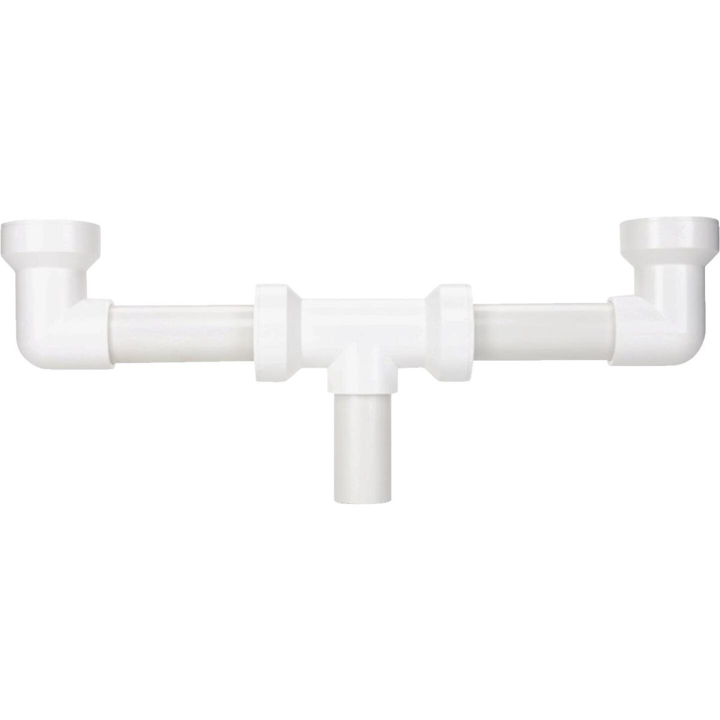 Keeney Insta-Plumb 1-1/2 In. x 16 In. White Plastic Center Outlet Waste Image 1