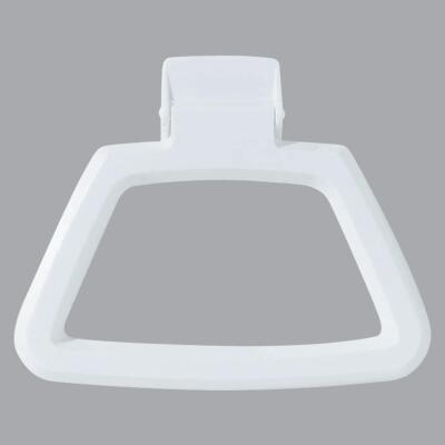 Homz White Polystyrene Towel Ring