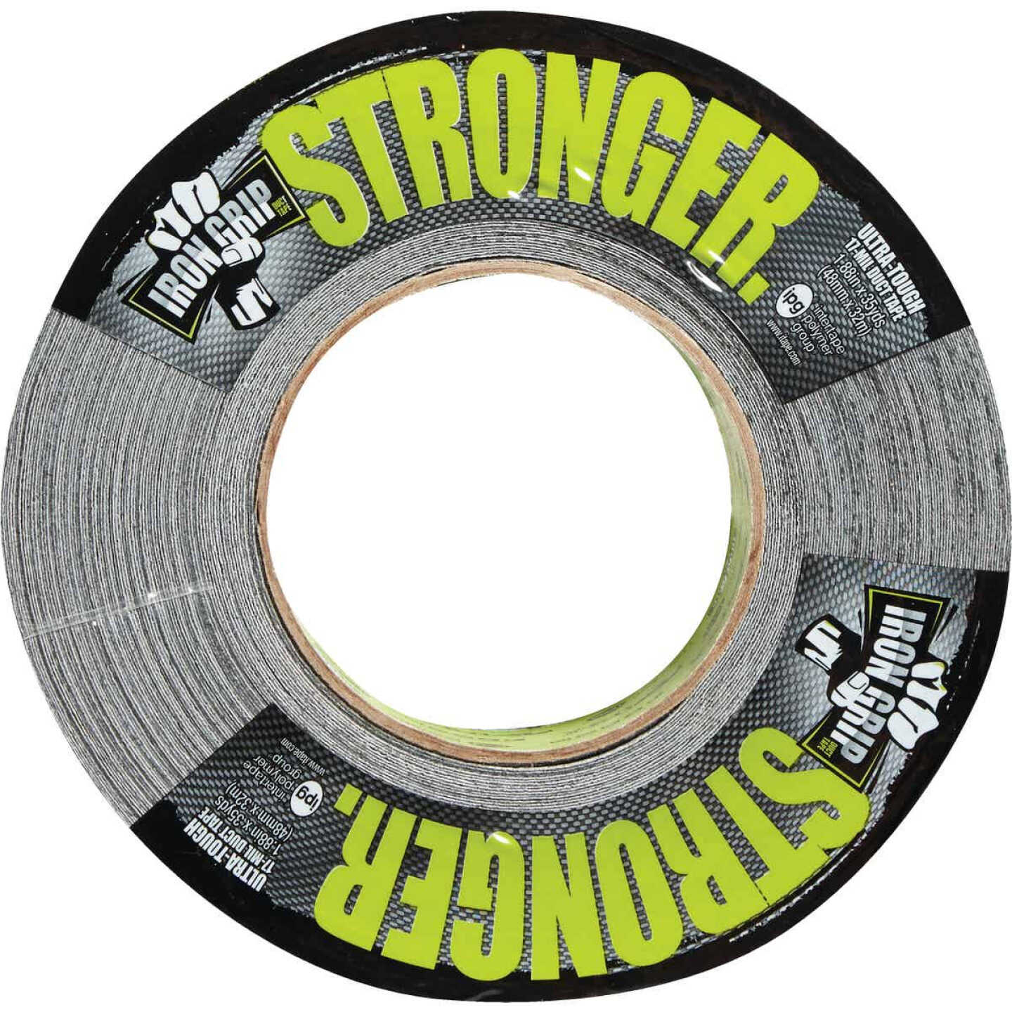 Intertape IRONGRIP 1.88 In. x 35 Yd. Duct Tape, Black Image 3