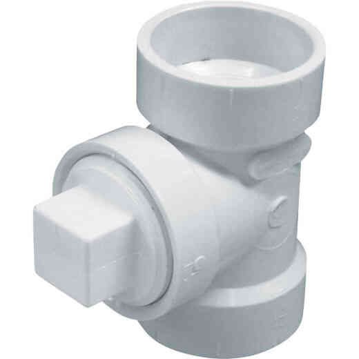 Charlotte Pipe 1-1/2 In. Test PVC Tee with Hex Plug