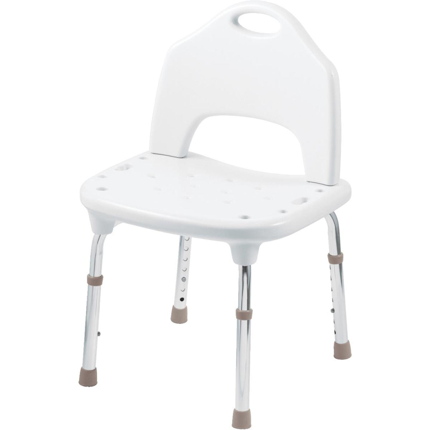 Moen Home Care 400 Lb. White Adjustable Shower & Tub Seat Image 1
