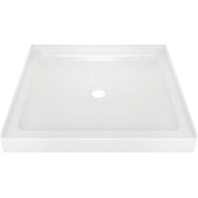 Delta Classic 400 36 In. L x 36 In. D Center Drain Shower Floor & Base in White