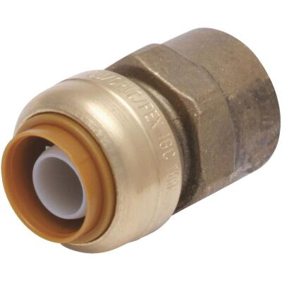 SharkBite 1/2 In. x 1/2 In. FNPT Straight Brass Push-to-Connect Female Adapter