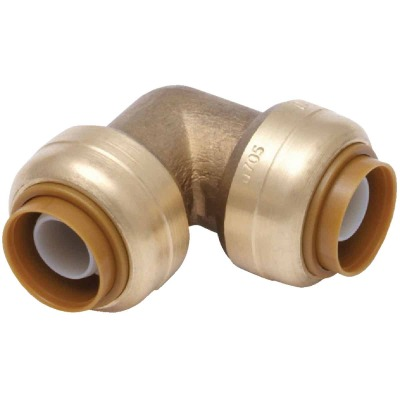 SharkBite 1/2 In. x 1/2 In. Push-to-Connect 90 Degree Brass Elbow