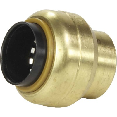 SharkBite 3/4 In. Push-to-Connect Brass End Push Cap
