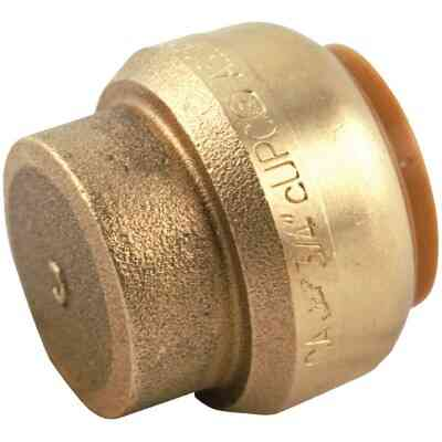 SharkBite 1 In. Push-to-Connect Brass End Push Cap
