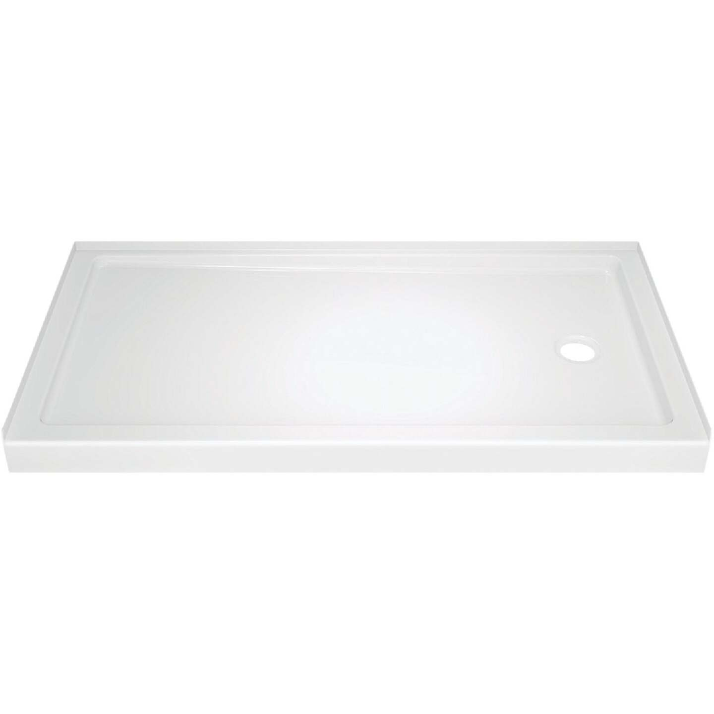 Delta Classic 400 60 In. L x 32 In. D Right Drain Shower Floor & Base in White Image 1