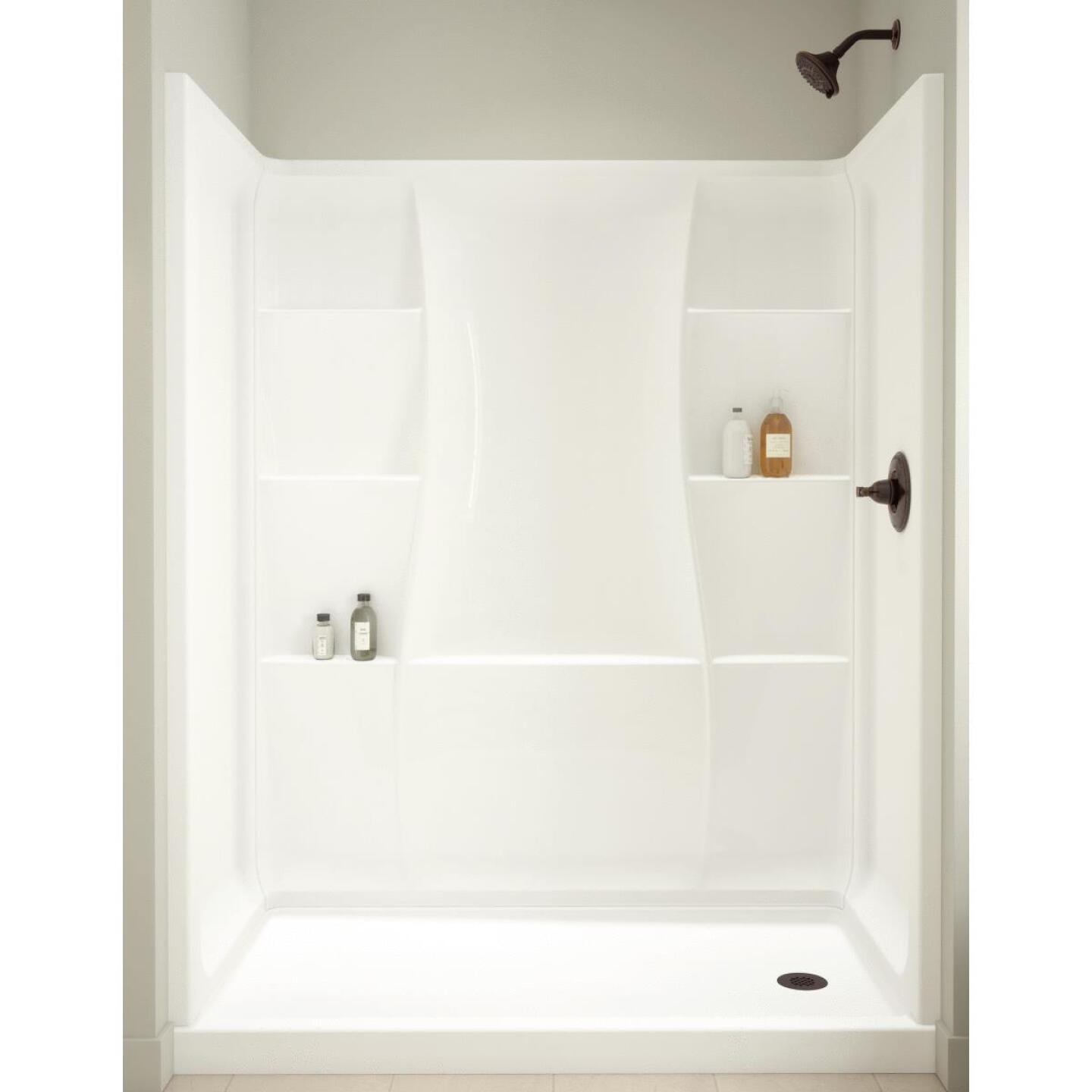 Delta Classic 400 3-Piece 60 In. L x 32 In. D Shower Wall Set in White Image 1