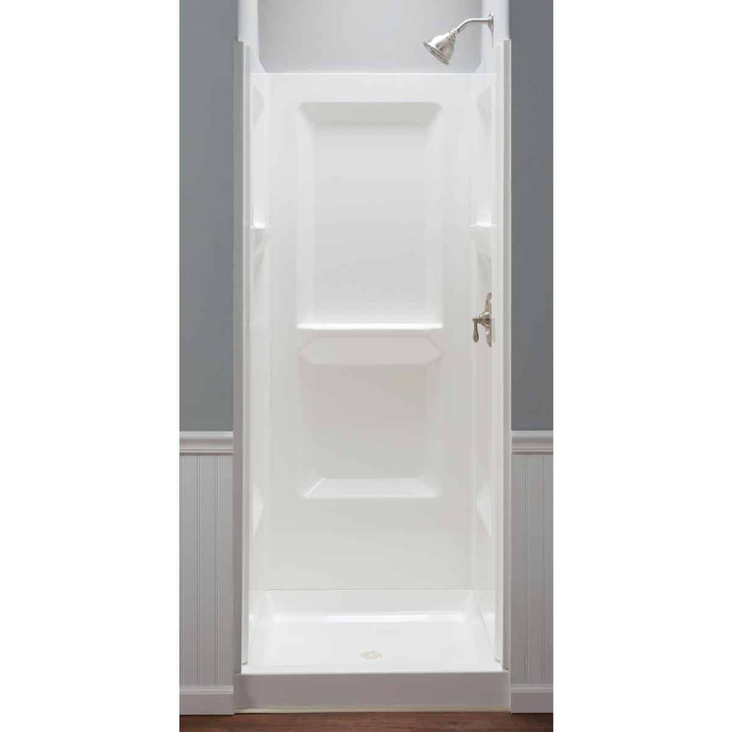 Mustee Durawall Model 700 3-Piece 32 In. W x 32 In. D Shower Wall Set in White Image 1