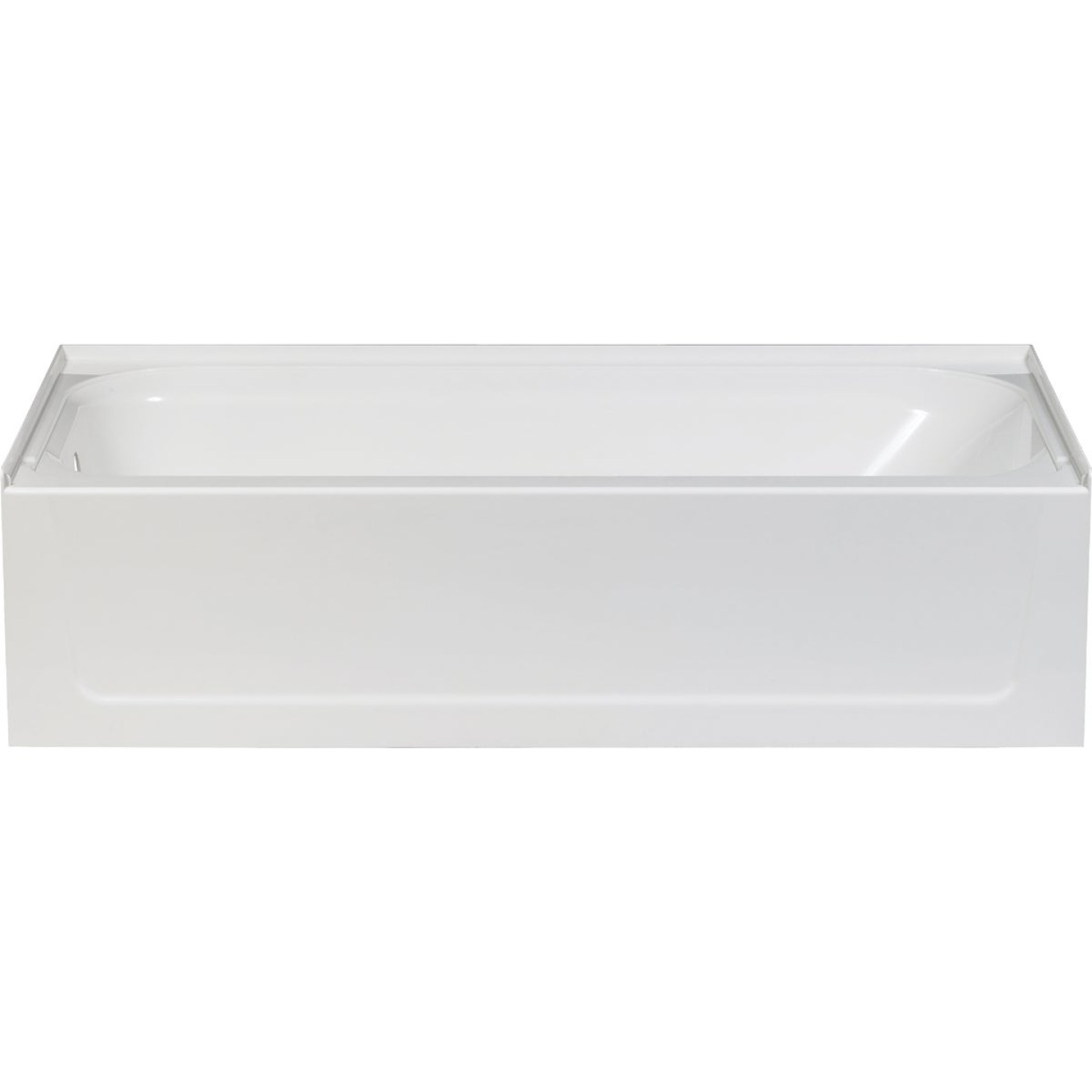 Mustee Topaz 60 In. L x 30 In. W x 16-1/2 In. D Left Drain Bathtub in White Image 1