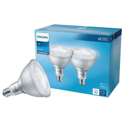 Philips 90W Equivalent Daylight PAR38 Medium LED Floodlight Light Bulb (2-Pack)